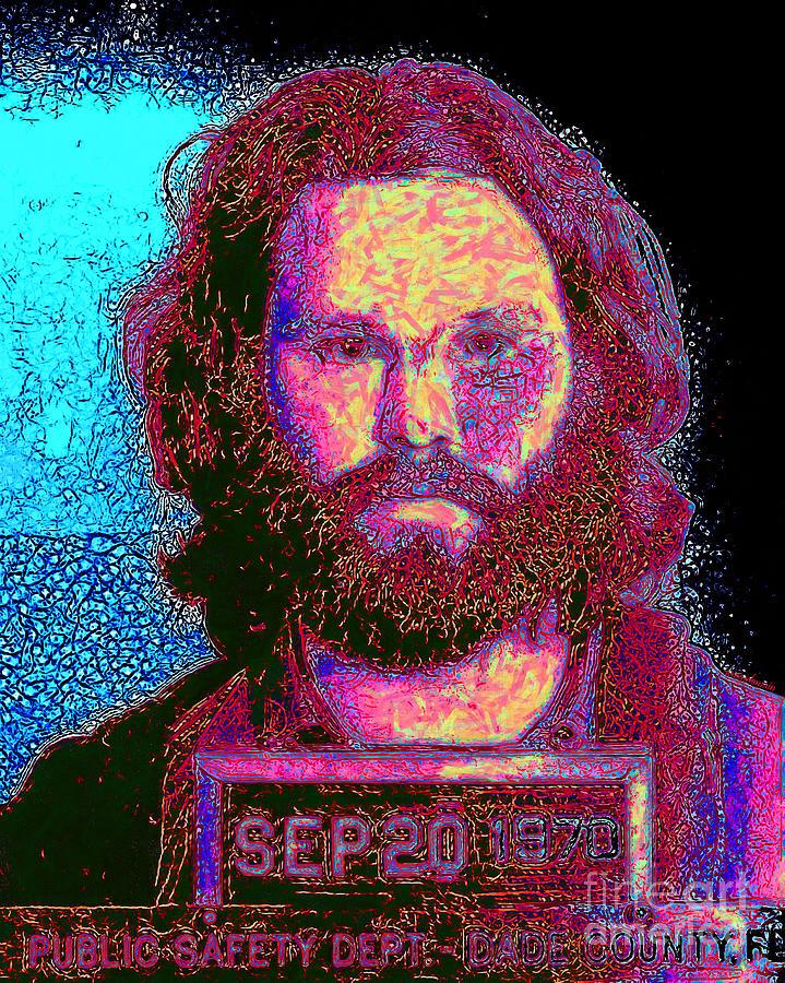 Jim Morrison Photograph - Mugshot Jim Morrison 20130329 by Wingsdomain Art and Photography