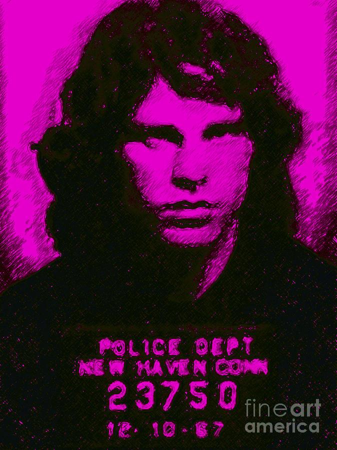 Mugshot Jim Morrison M88 Photograph