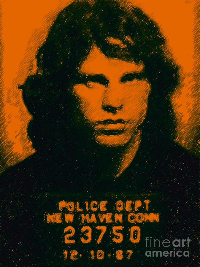 Mugshot Jim Morrison Photograph