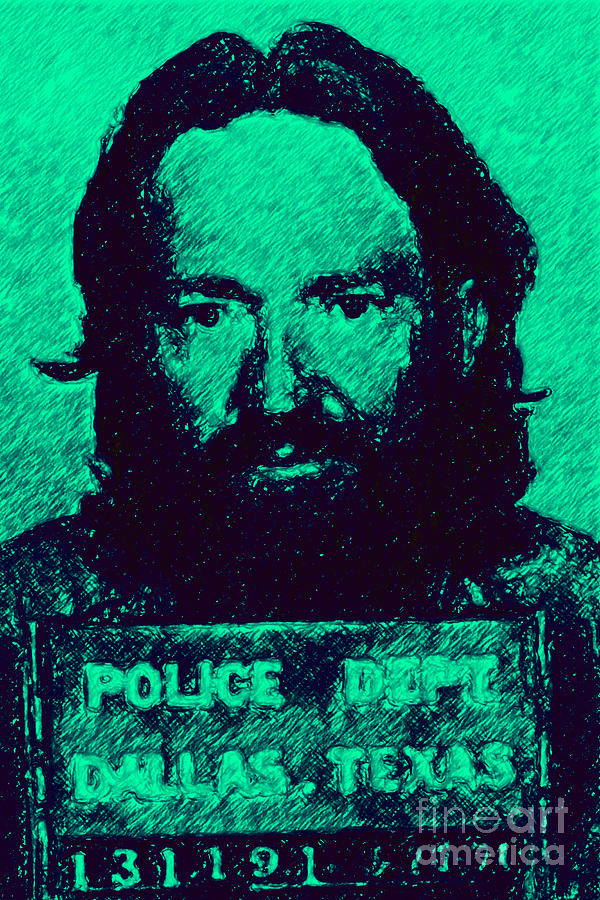 Mugshot Willie Nelson P28 Photograph  - Mugshot Willie Nelson P28 Fine Art Print