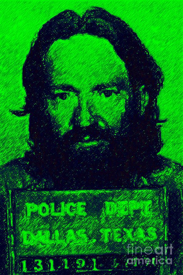 Mugshot Willie Nelson P88 Photograph