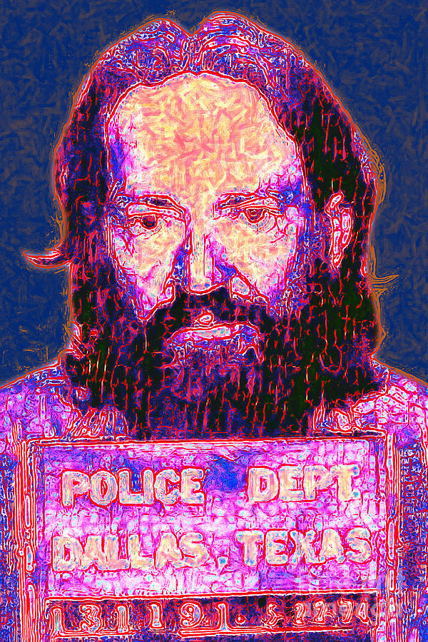 Mugshot Willie Nelson Painterly 20130328 Photograph  - Mugshot Willie Nelson Painterly 20130328 Fine Art Print