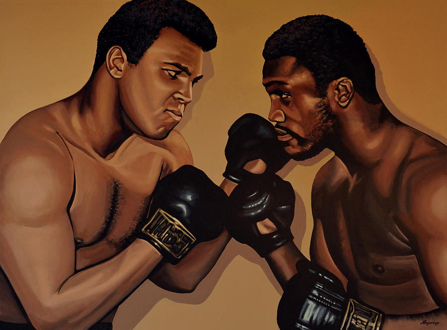 Muhammad Ali And Joe Frazier Painting