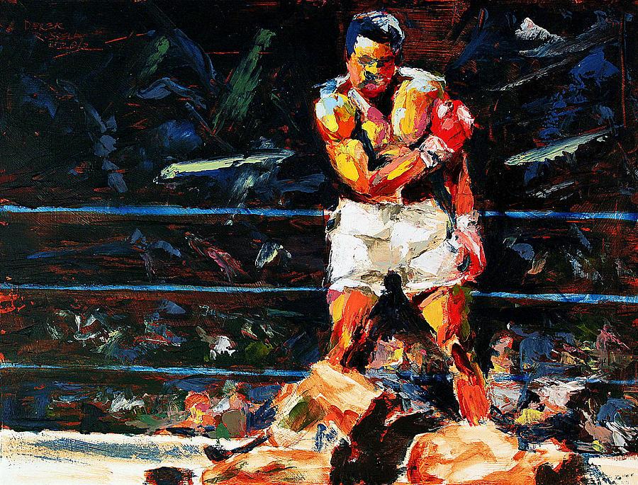 Muhammad-ali Painting - Muhammad Ali by Derek Russell