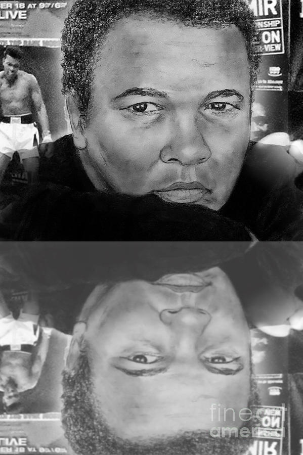 Muhammad Ali Formerly Known As Cassius Clay Version II With Reflection Drawing
