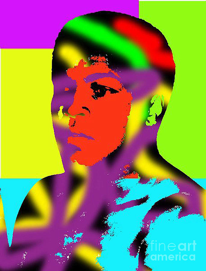 California Digital Art - Muhammad Ali by Gerhardt Isringhaus