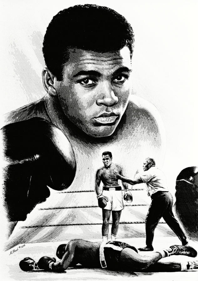 Muhammad Ali Drawing - Muhammad Ali The Greatest by Andrew Read
