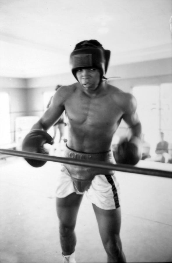 Muhammad Ali Training Inside Ring Photograph