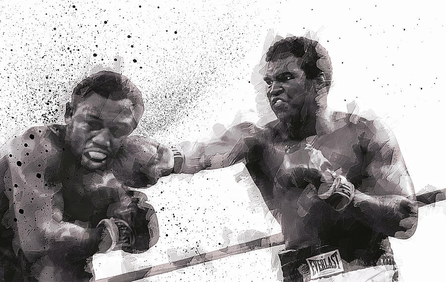 Muhammad Ali Digital Art - Muhammad Ali Vs Joe Frazier by Daniel Hagerman