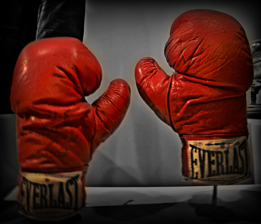 Muhammad Alis Boxing Gloves Photograph