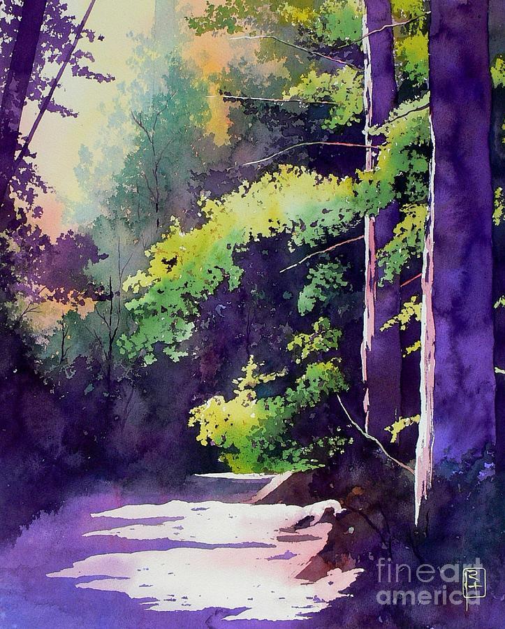 Watercolor Painting - Muir Woods by Robert Hooper