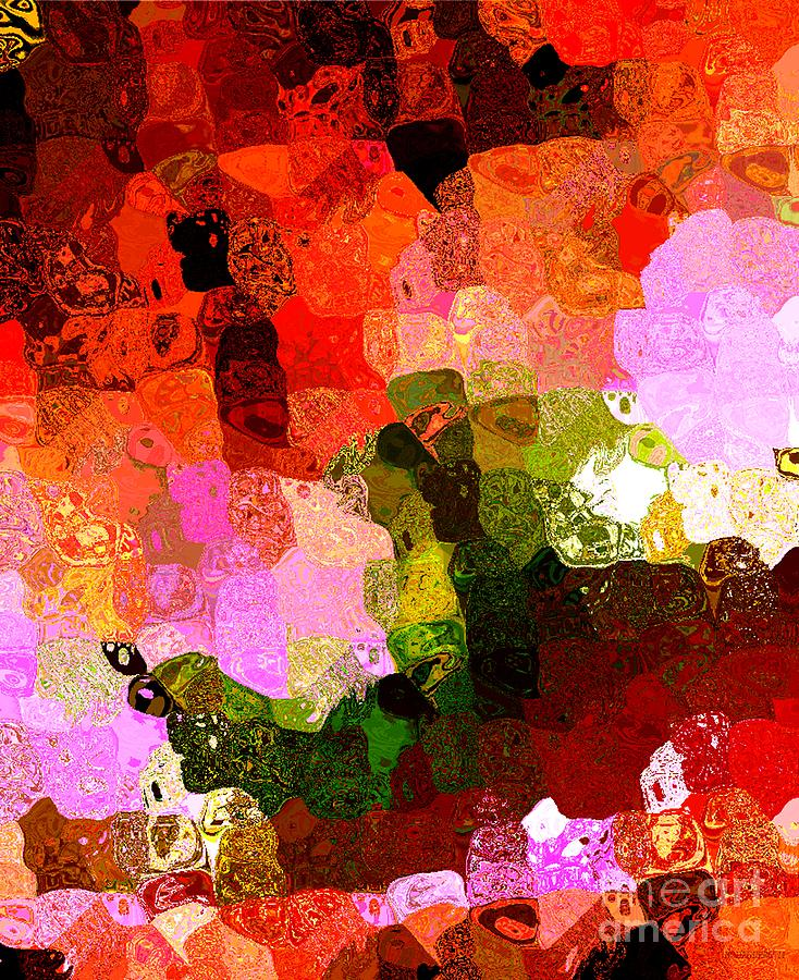 Abstract Digital Art - Multi Color Abstract Art Of Spots by Mario Perez