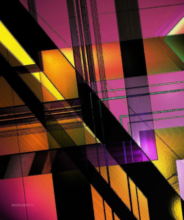Yellow Digital Art - Multicolored Combination Art by Mario Perez