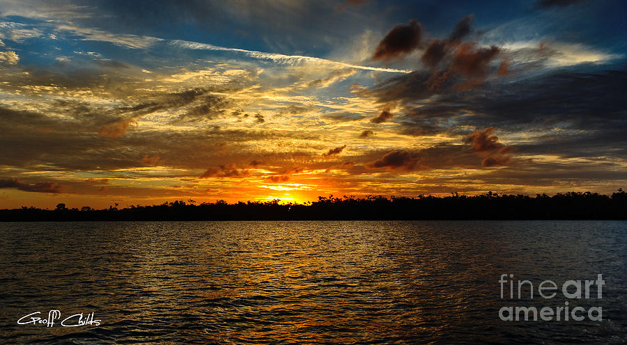 Multicolour At Sea - Sunset Photograph