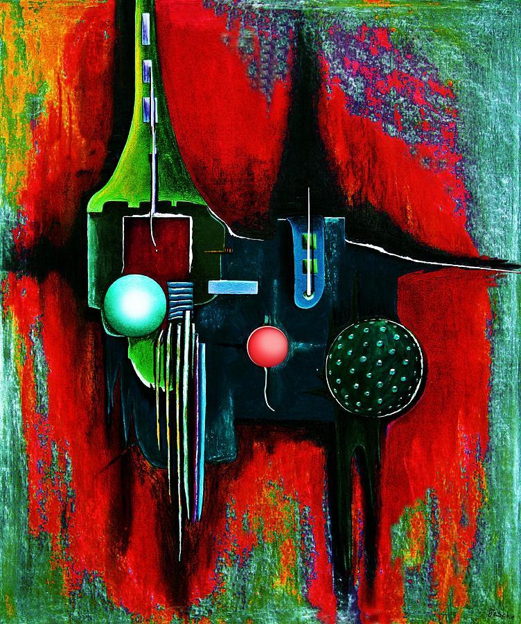 Abstrakt Painting - Multilaier  by Gertrude Scheffler