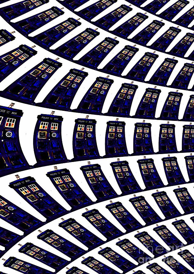 Multiple Tardis  Painting  - Multiple Tardis  Fine Art Print