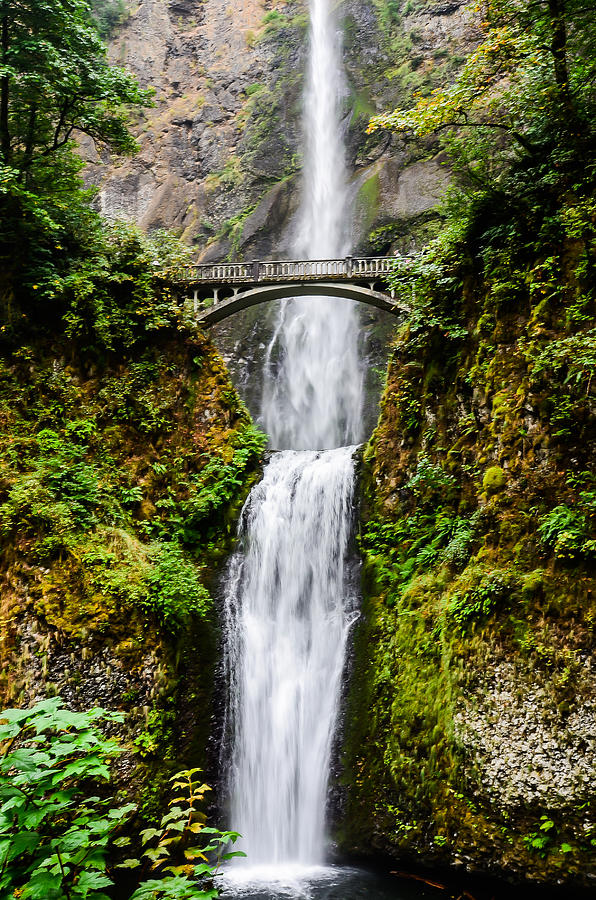 Multnomah Falls Oregon Waterfalls Photograph  - Multnomah Falls Oregon Waterfalls Fine Art Print