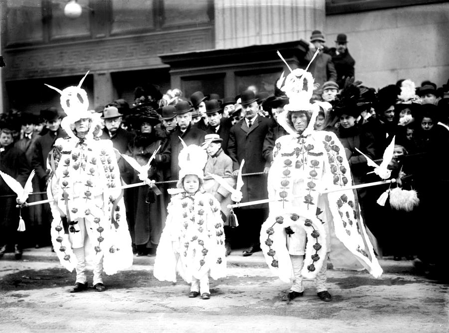1909 Photograph - Mummers Circa 1909 by Digital Reproductions