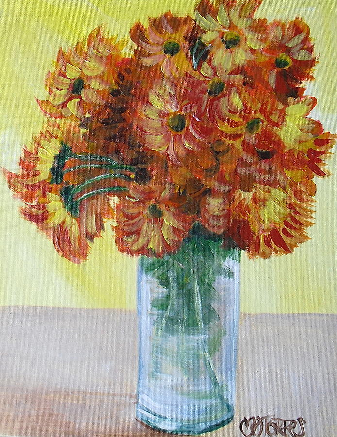 Mums Painting - Mums by Melissa Torres