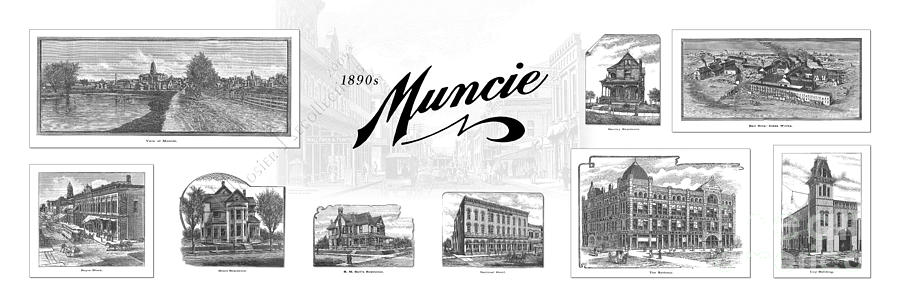 Muncie Indiana B Mixed Media