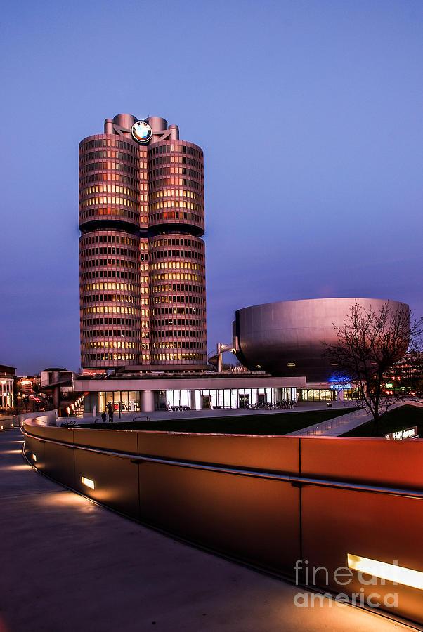 Architecture Photograph - munich - BMW office - vintage by Hannes Cmarits
