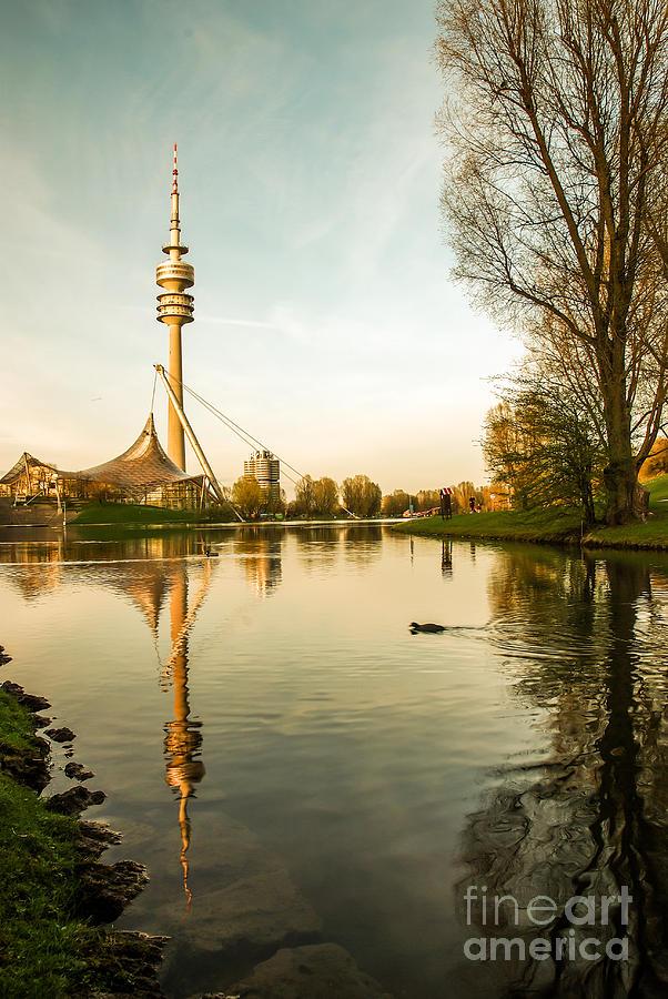 Architecture Photograph - Munich - Olympiapark - Vintage by Hannes Cmarits