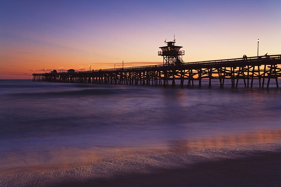 Municipal Pier At Sunset San Clemente Photograph