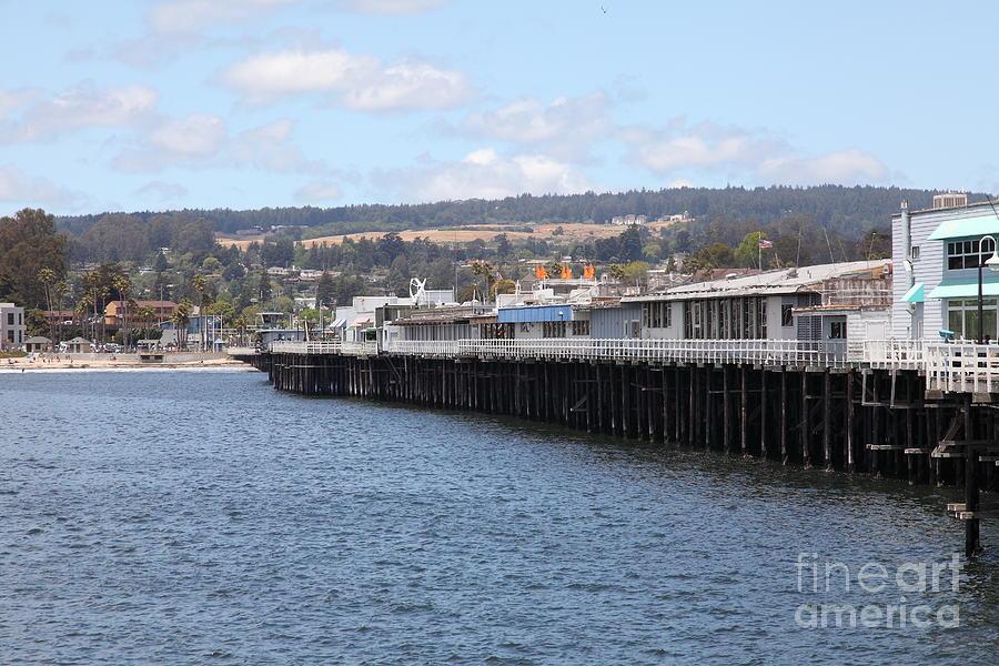 California Photograph - Municipal Wharf At The Santa Cruz Beach Boardwalk California 5d23815 by Wingsdomain Art and Photography