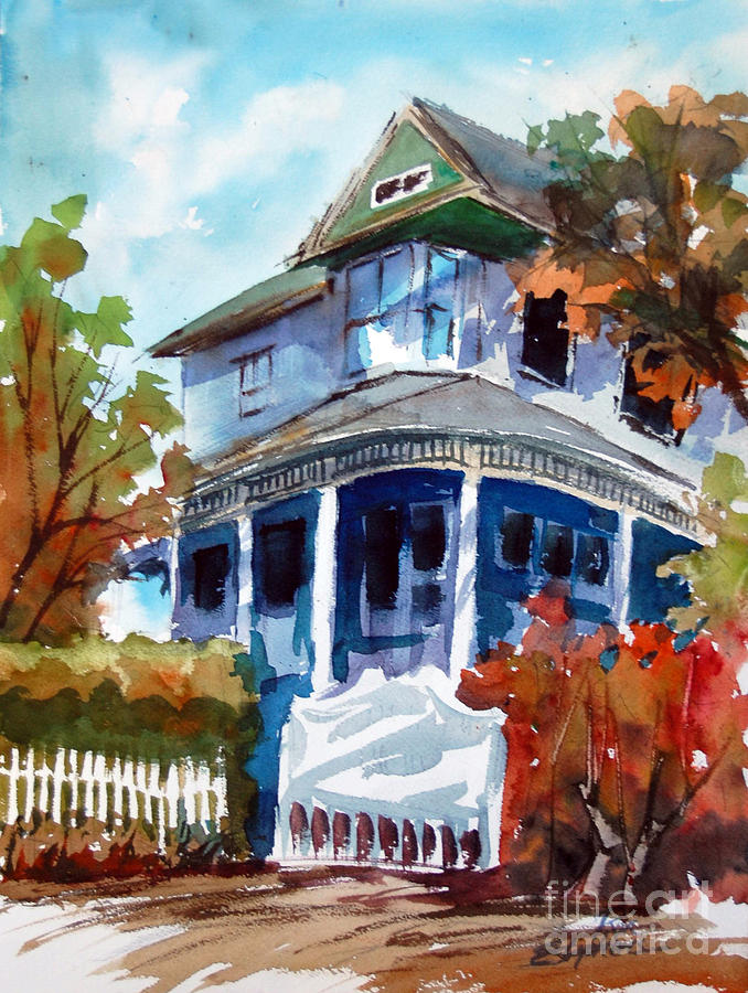 Buildings Painting - Munzesheimer Manor B B Mineola Tx by Ron Stephens