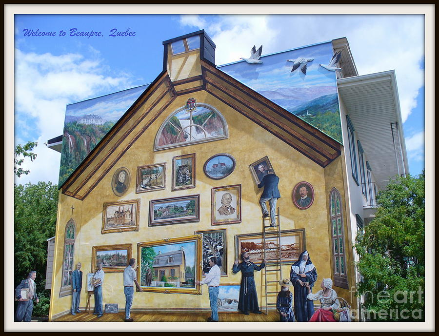 Quebec City Photograph - Mural In Beaupre Quebec by Lingfai Leung