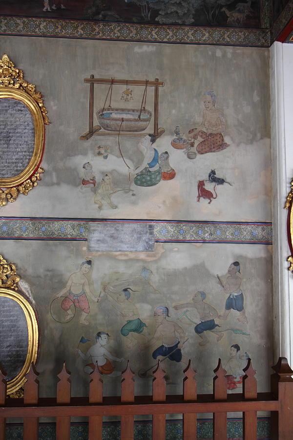 Mural - Wat Pho - Bangkok Thailand - 01131 Photograph