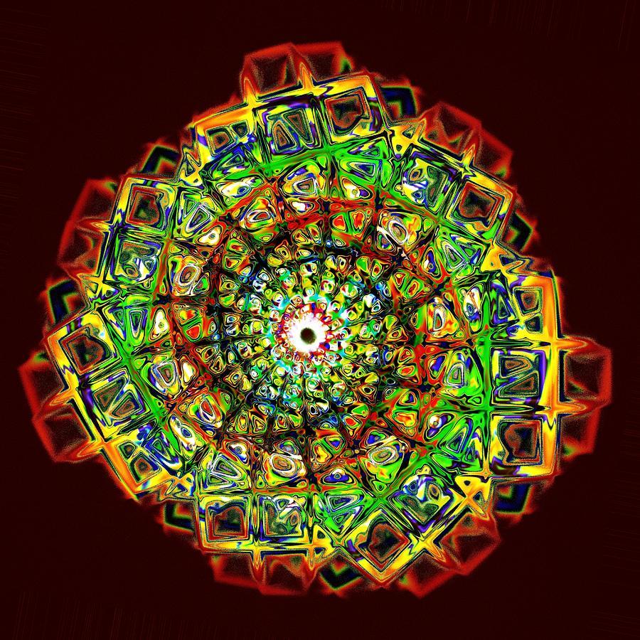 Computer Digital Art - Murano Glass - Red by Anastasiya Malakhova