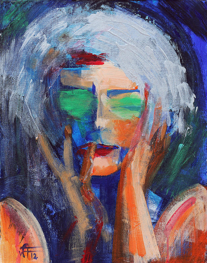 Muse Thinking Painting  - Muse Thinking Fine Art Print