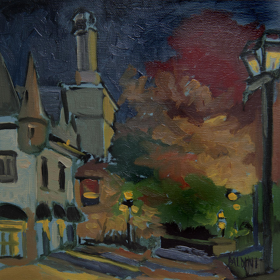 Musee Du Fort Night Study Painting  - Musee Du Fort Night Study Fine Art Print