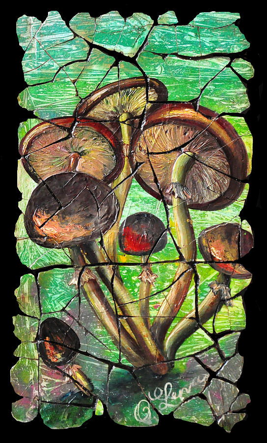 Mushrooms Painting  - Mushrooms Fine Art Print