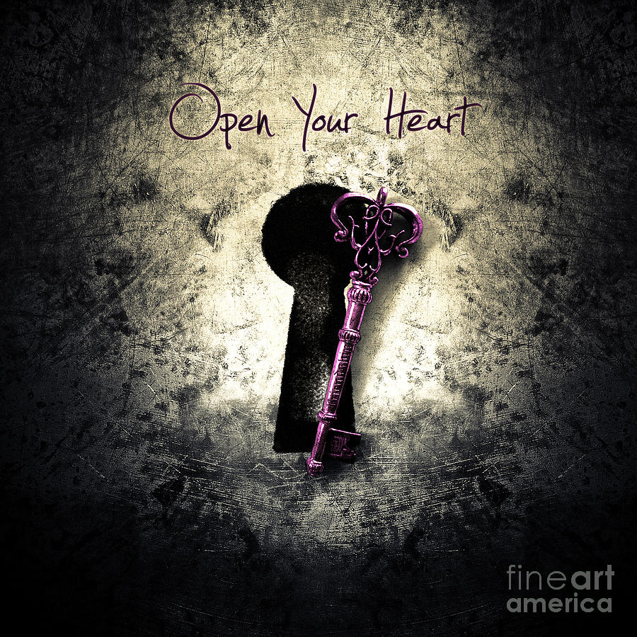 Music Gives Back - Open Your Heart Digital Art  - Music Gives Back - Open Your Heart Fine Art Print
