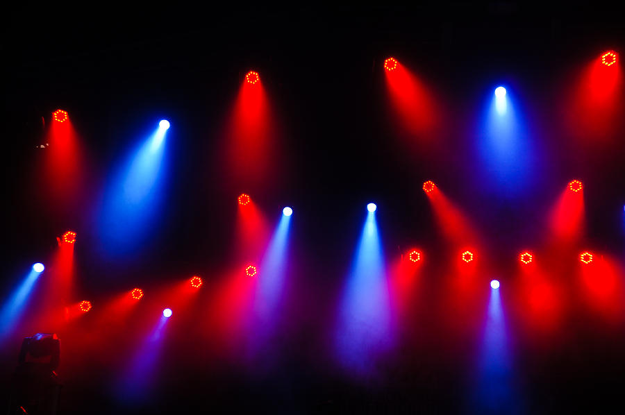 Music In Red And Blue - Montreal Jazz Festival Photograph