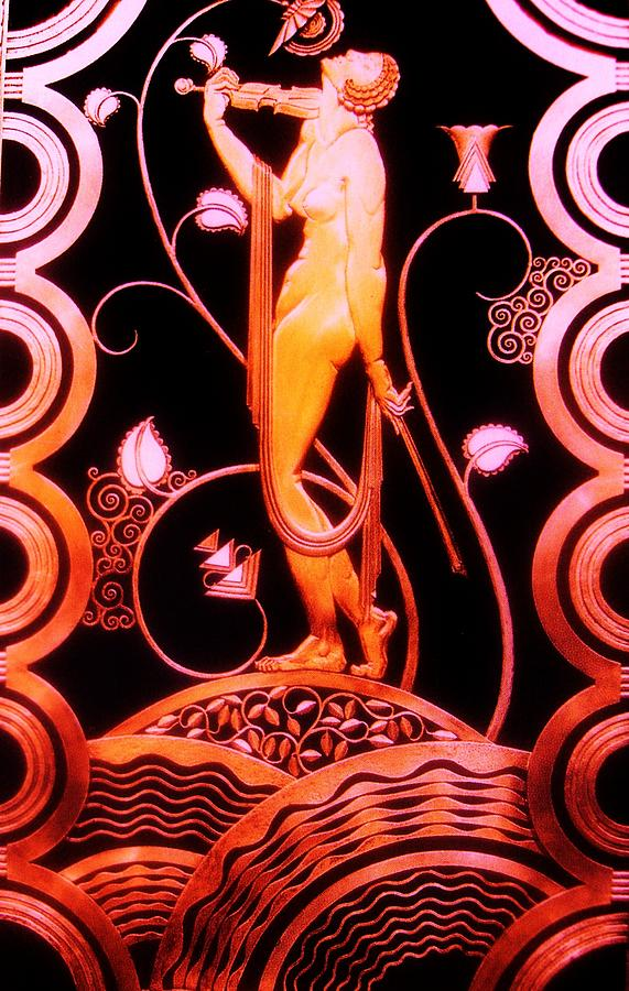 Music Inspiration  -  Art Deco Painting  - Music Inspiration  -  Art Deco Fine Art Print