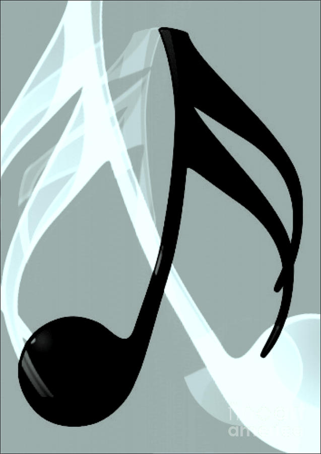 Music Note 2 Digital Art  - Music Note 2 Fine Art Print