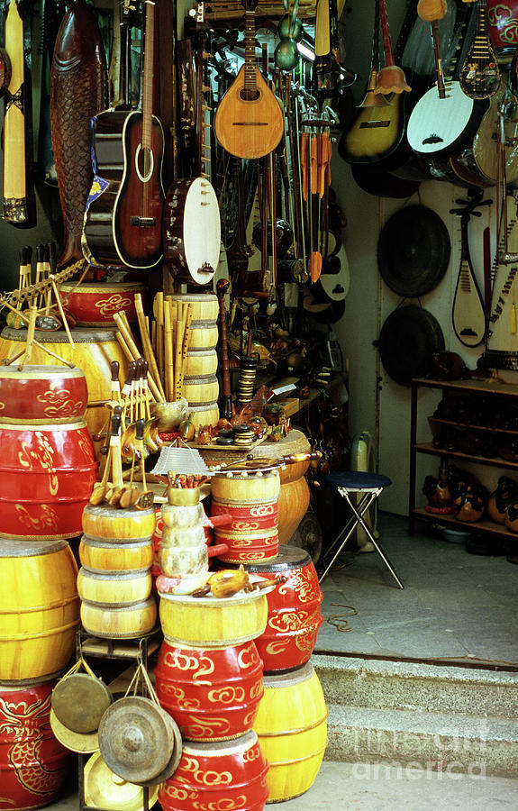 Vietnam Photograph - Music Shop by Rick Piper Photography