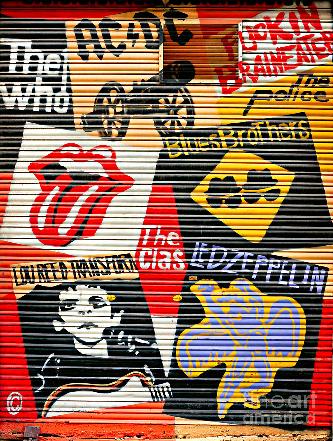 Music Street Art Color Photograph