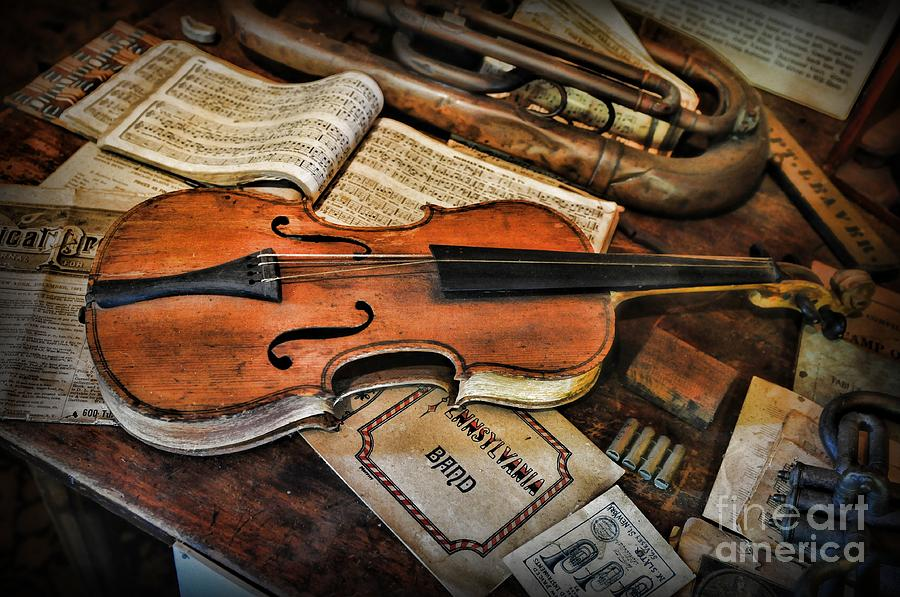 Music - The Violin Photograph  - Music - The Violin Fine Art Print