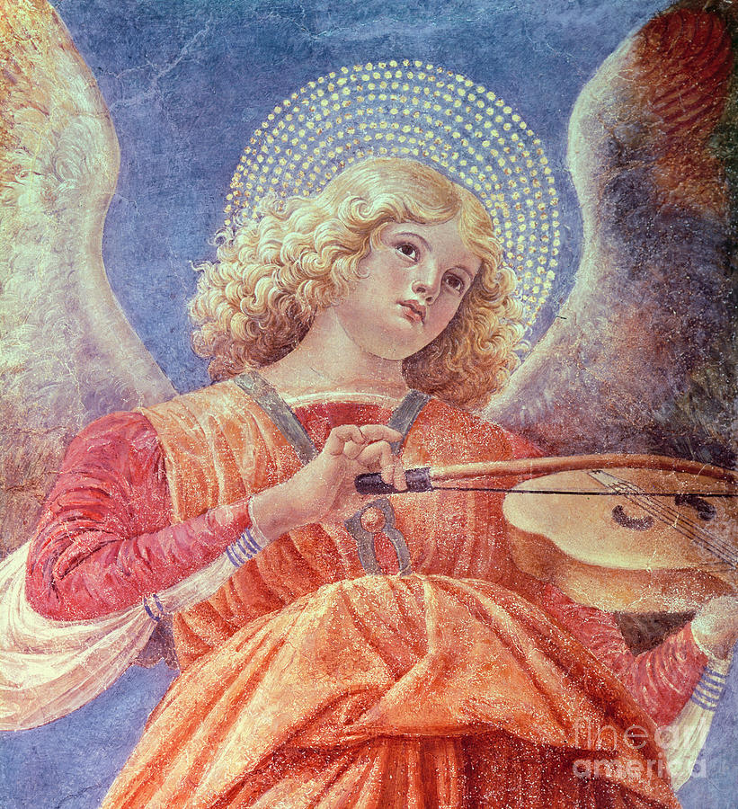 Musical Angel With Violin Painting