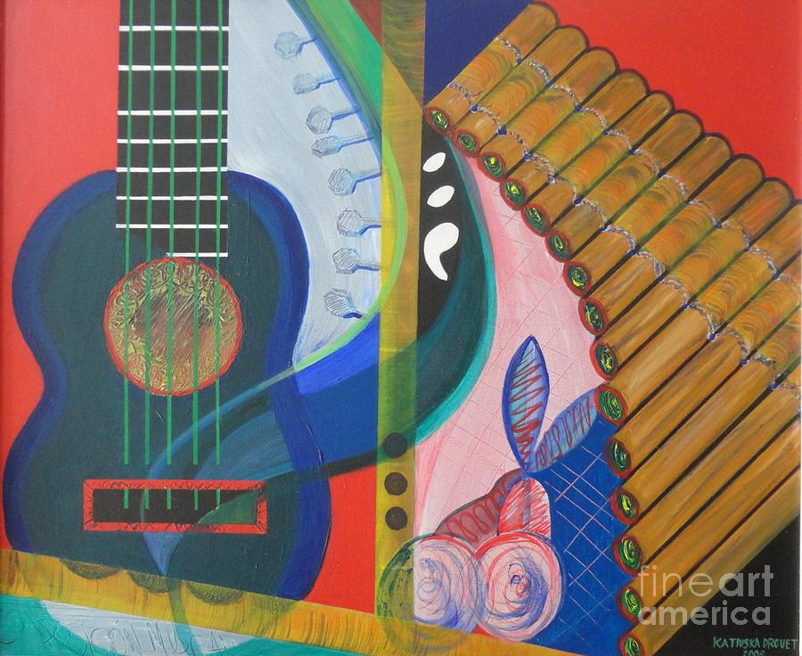 Musical composition painting by katiuska drouet for The craft of musical composition