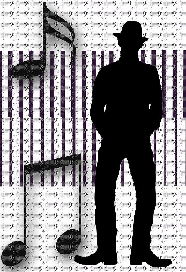 Musical Man Silhouette Photograph
