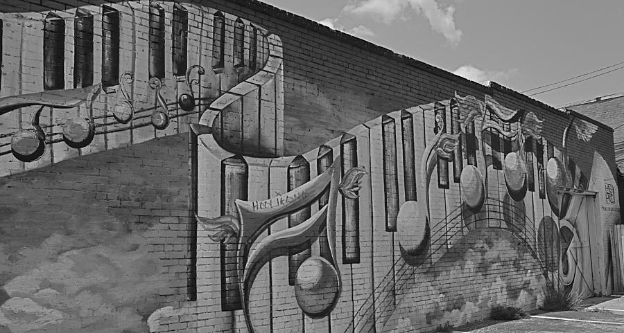 Piano Photograph - Musical Mural by Linda Dyer Kennedy