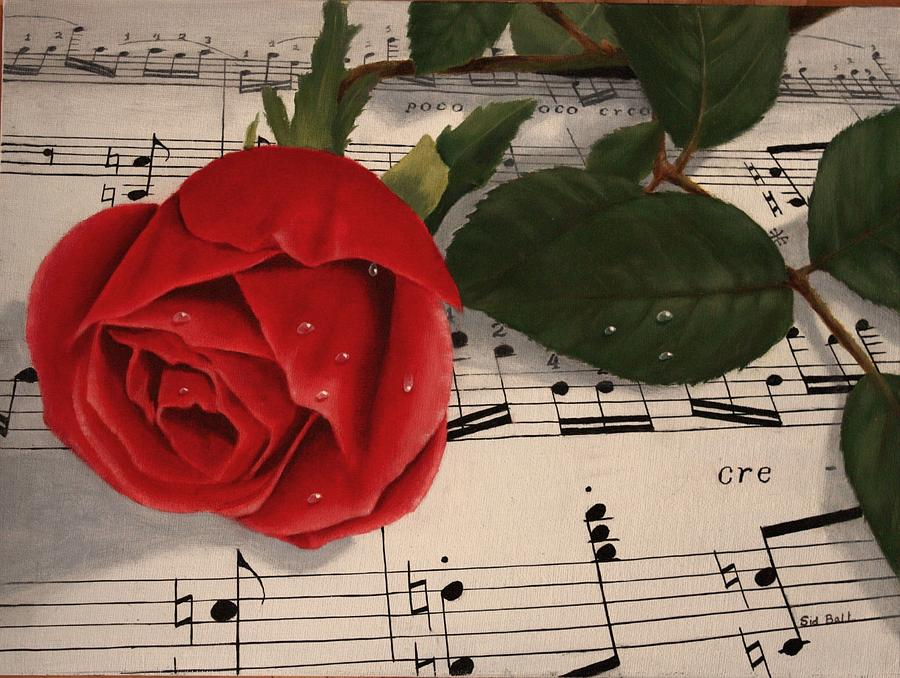 Musical Rose Painting
