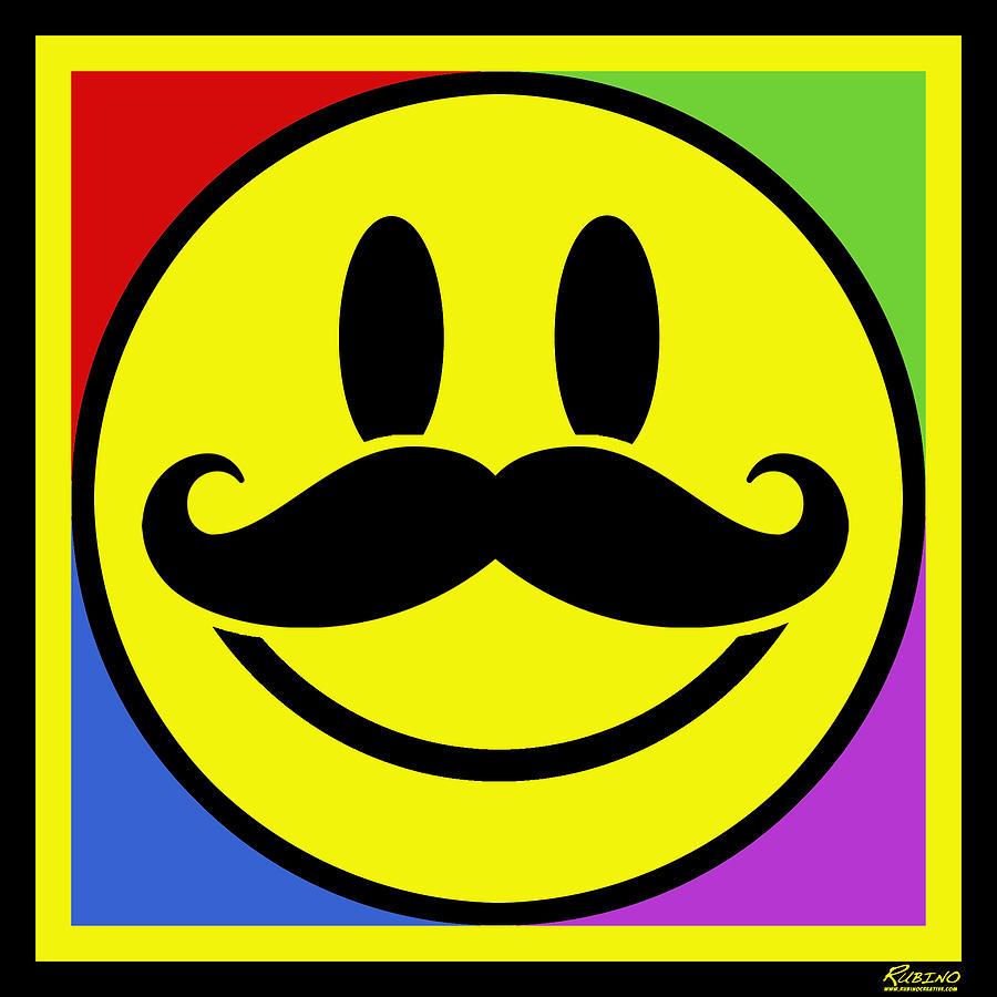 Mustache Smile Paintin...