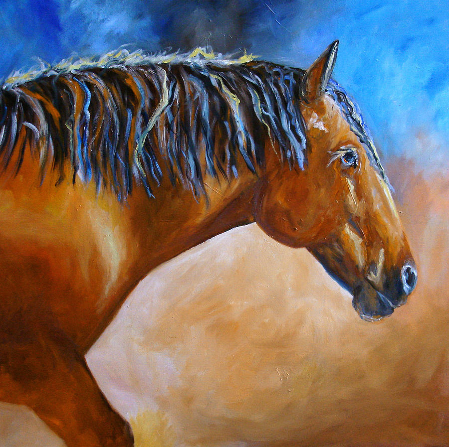 Mustang horse painting - photo#16