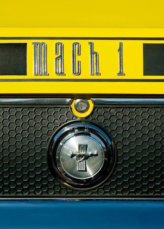 Mustang Mach 1 Emblem 2 Photograph